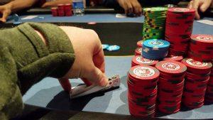 a poker face